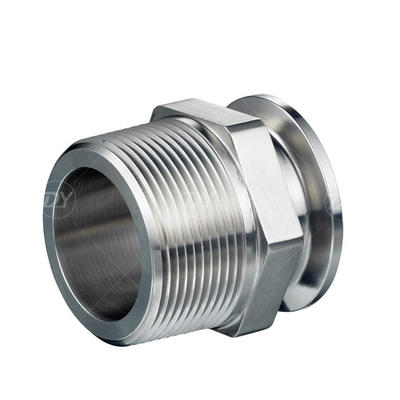 Sanitary Stainless Steel Clamp with NPT Thread Adapters