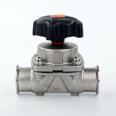 China HIGH QUALITY Stainless Steel Sanitary Clamp Manual Diaphragm Valve