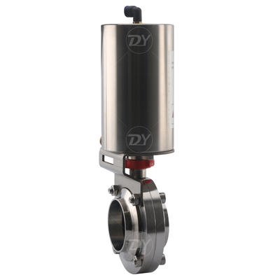 Stainless Steel Sanitary Pneumatic Actuated Butterfly Valve