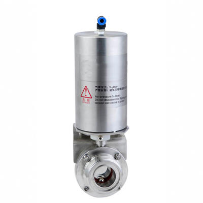 Stainless Steel Air Actuated Threaded Butterfly Valve