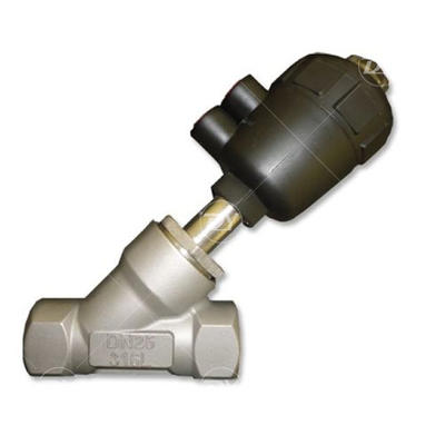 Sanitary SS Angle Seat Valve With NPT Thread Ends