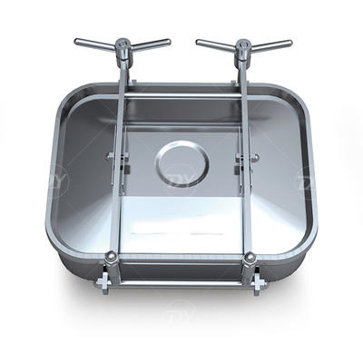 Sanitary Stainless Steel Square Manway Manhole Cover