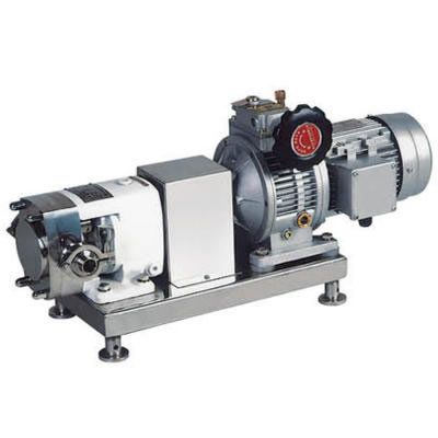 Sanitary Stainless Steel Rotary Lobe Step-less Variator Rotor Pump